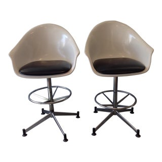 Vintage Cosco Shell Bar Stools- A Pair