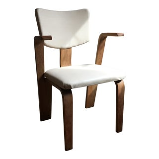 Thonet Bentwood White Leather Chair