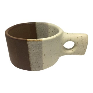 Mid-Century Stoneware Coffee Mug