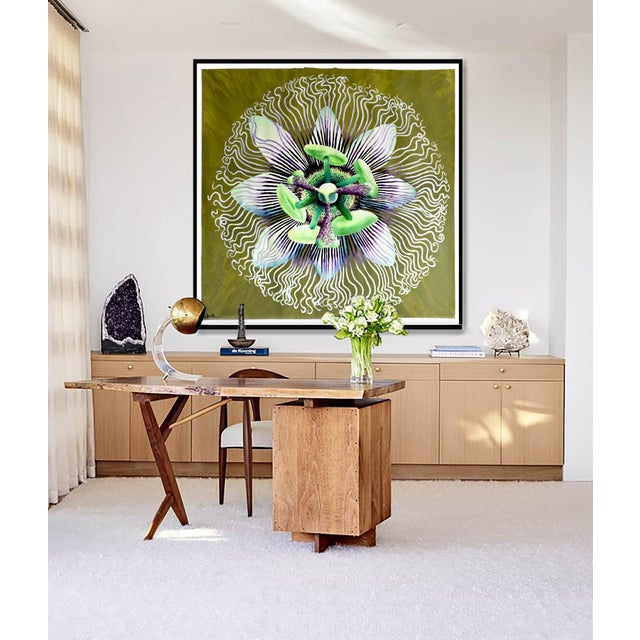 Passion Flower Acrylic Painting - Image 7 of 8