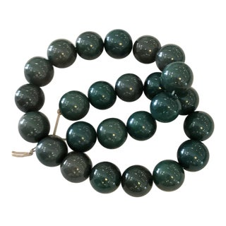 Jade Colored Bead Strand
