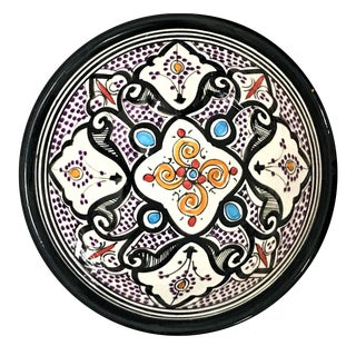 Moroccan Hand-Painted Small Multicolor Bowl