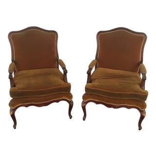 French Open Arm Chairs - A Pair