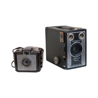 Decorative Vintage Brownie Cameras - A Pair