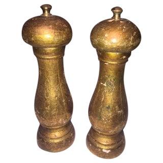 Vintage Gold Florentine Salt & Pepper Shakers