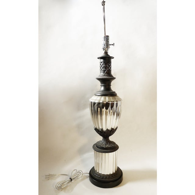 Vintage Neoclassical Style Mercury Glass Lamp - Image 3 of 5