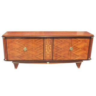 Monumental French Art Deco Palisander By Jules Leleu Sideboard / Buffet ,Circa 1940s