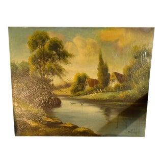 E. Cole 1860s Landscape in Oils