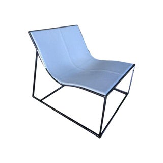 Jean-Marie Massaud Holy Day White Leather Chrome Lounge Chair