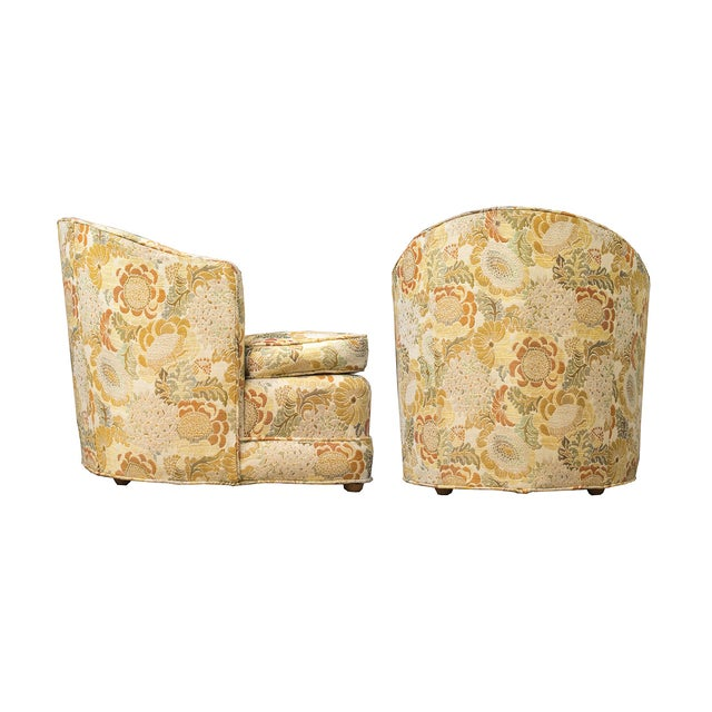Mid-Century Hollywood Regency Club Chairs - A Pair - Image 2 of 6