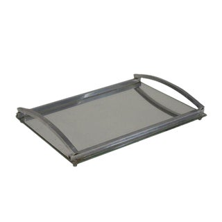 1930s Matte Nickel Frame Serving Tray