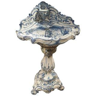 Rare 19th Century Pedestal Sink, Italy, Circa 1870