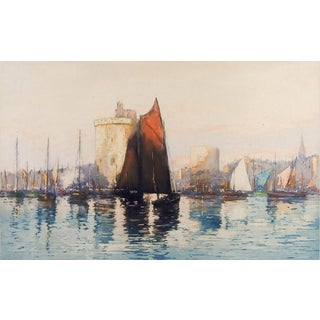 French Harbor Etching