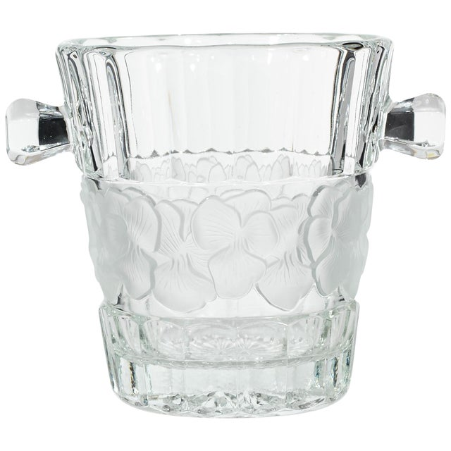 Vintage Floral Glass Champagne Ice Bucket - Image 1 of 4