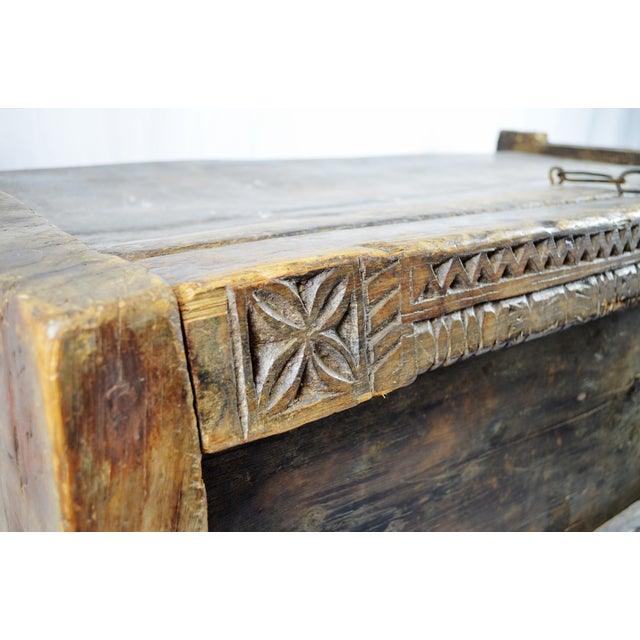 Ancient Kafiristan Wooden Dowry/Treasure Chest - Image 8 of 10