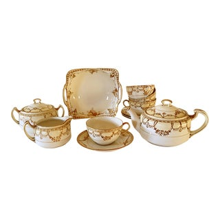 Japanese Nippon Porcelain Tea Set- 12 Pieces