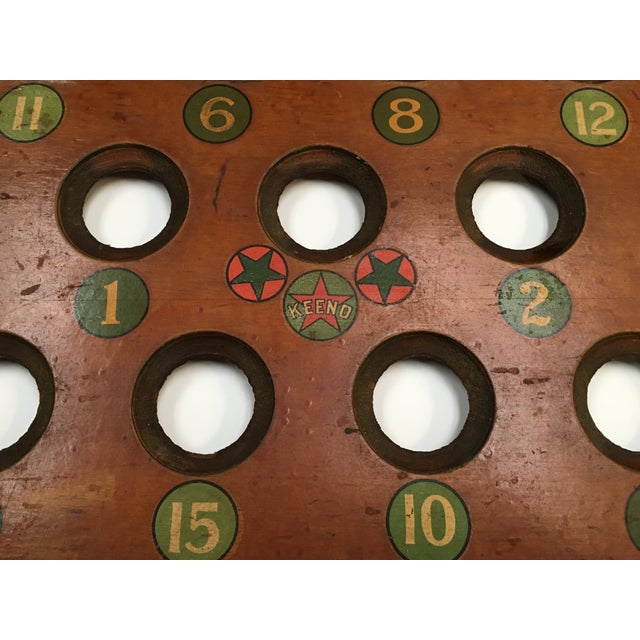 1938 Keeno Star Reversible Gaming Board - Image 7 of 10