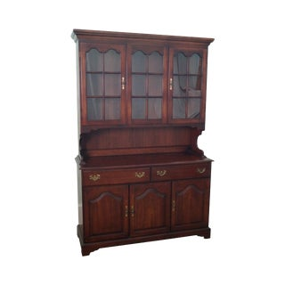 Colony Hall Solid Cherry Traditional Hutch China Cabinet