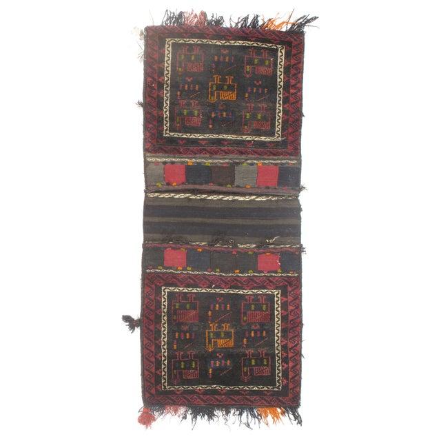 "Vintage Persian Saddlebag - 2'0"" X 4'9"" - Image 1 of 2"