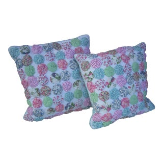 Ethan Allen County Pillows - A Pair