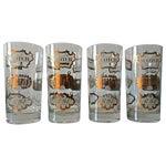Image of Mid-Century Gilt Scotch Tumblers - Set of 4