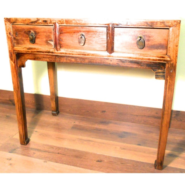 Early 1800s Antique Chinese Ming Desk - Image 2 of 9