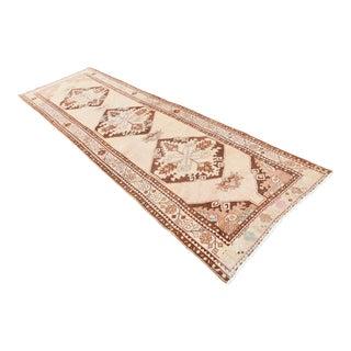 Turkish Antique Handmade Runner -3′7″ × 11′7″