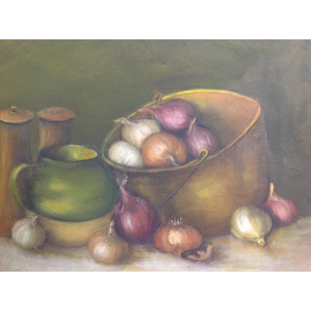 Still Life Oil Painting on Canvas - Image 4 of 7