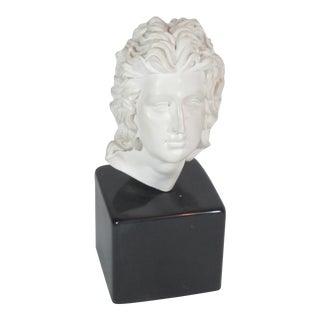 David White Alabaster Bust