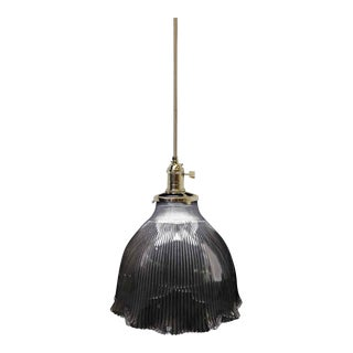 Holophane Rib & Ruffle Shade Pendant Light