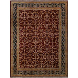 Kafkaz Peshawar Shela Red & Blue Wool Rug - 9′1″ × 11′8″