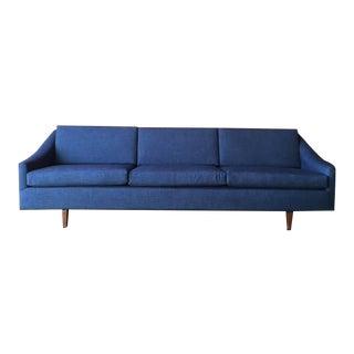 Dux Style Mid-Century Blue Sofa