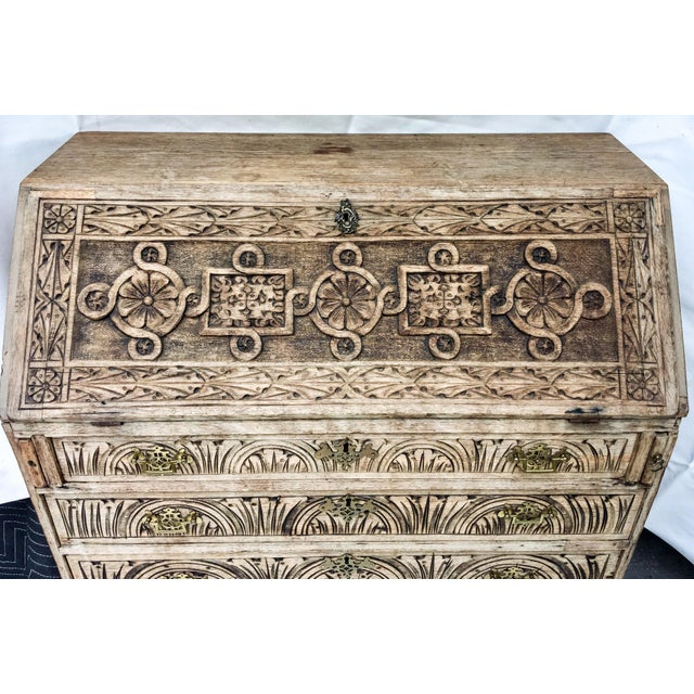Antique English Oak Desk - Image 5 of 5