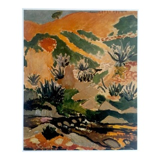 "Matisse Original Vintage 1973 Lithograph Print ""Landscape With Aloes"", 1907"