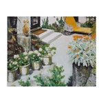 Image of Large Scale Oil Painting - Backyard Garden