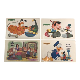 Vintage Disney Character Placemats - Set of 4