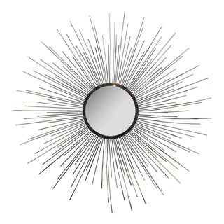 Gold Painted Metal Sunburst Mirror
