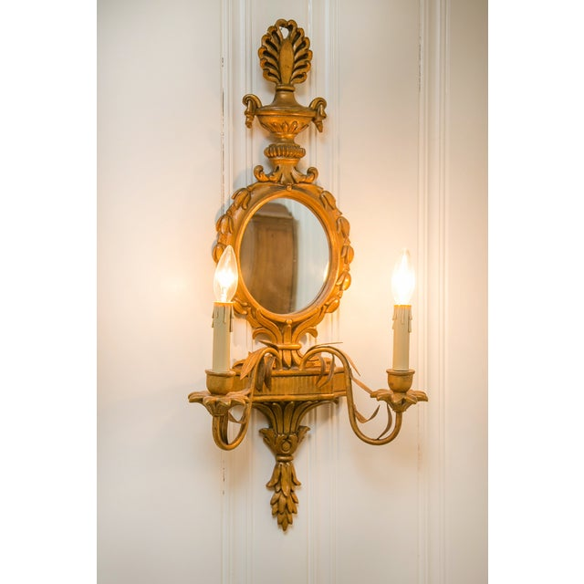 Pier Deux Gold Mirrored Sconce - Image 2 of 3