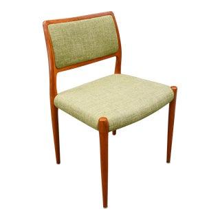 Vintage Danish Modern Teak Chair Model 80 by N.ø Moller