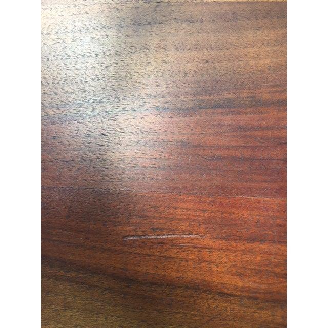Vintage Mid-Century Modern Steel Based Walnut Coffee Table - Image 6 of 9