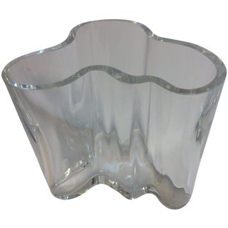 Signed Alvar Aalto Crystal Savoy Vase
