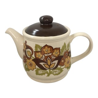 1970s Vintage Staffordshire English Teapot