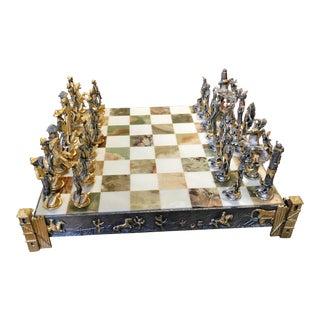 Piero Benzoni Bronze Cowboys & Indians Chess Set
