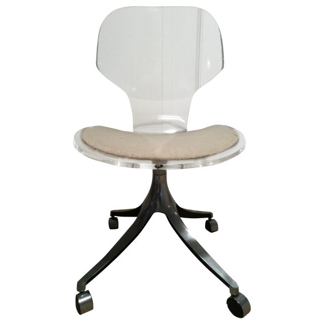 Mid-Century Lucite Desk Chair - Image 1 of 5