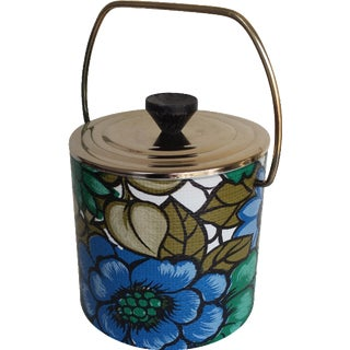Vintage 70's Floral Ice Bucket