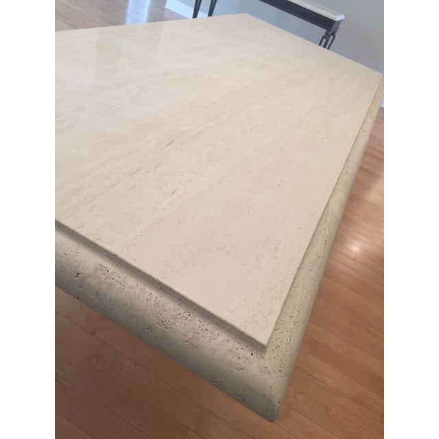 Kreiss Travertine Dining Table - Image 3 of 11