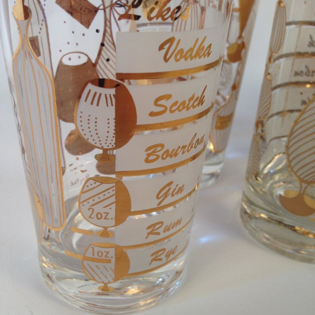 Signed Gay Fad Cocktail Glasses - Set of 6 - Image 4 of 6