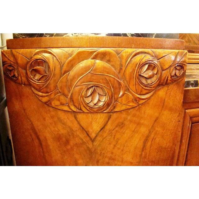 German Art Deco Walnut Buffet - Image 9 of 11