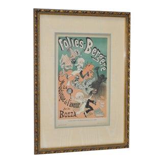 1884 Gazette des Beaux-Arts Folies Bergere Lithograph by Jules Cheret