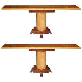 French Art Deco Console Tables - A Pair